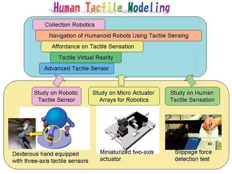 Figure : Scheme of our study on tactile sensation modeling
