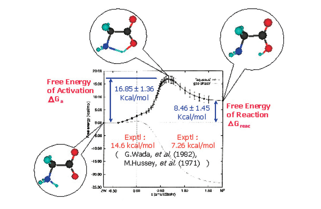 Comprehensive List Of Researchers Information Knowledge Free Energy Diagram Figure The Isomerization Reaction Glycine Molecule In Aqueous Solution